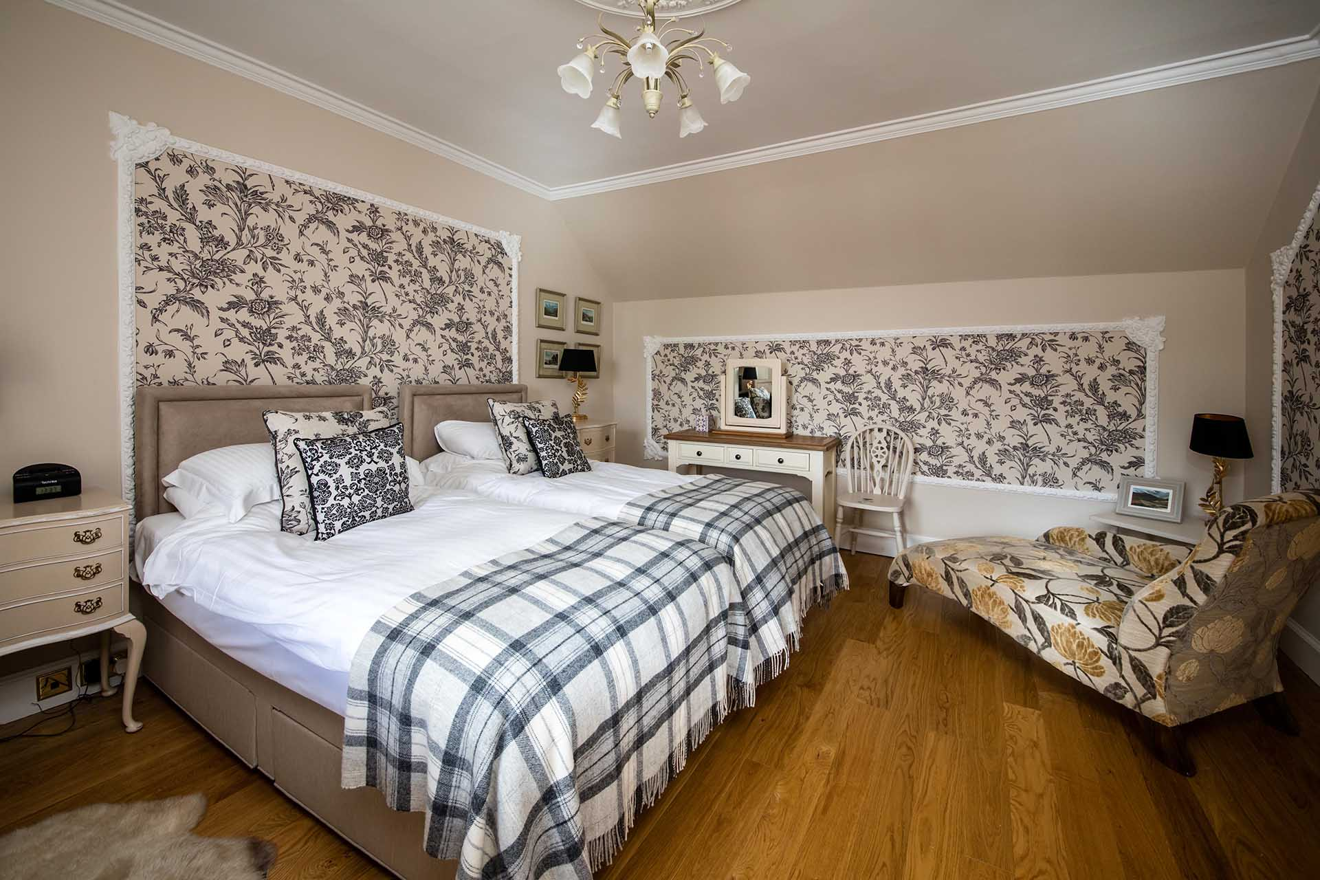 Both twin bedrooms have views over the front garden.